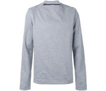 Sweatshirt mit Reißverschluss aus Wolle