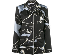 Seidenhemd mit Panther-Print