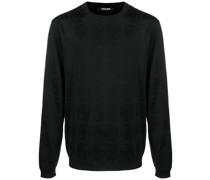 Jacquard-Pullover mit Monogramm