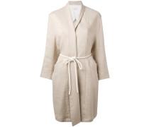 - roped belted coat - women