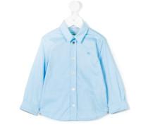 Klassisches Hemd mit Logo - kids - Baumwolle
