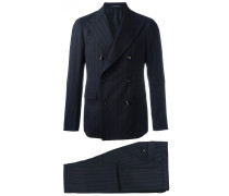 double-breasted pinstripe two-piece suit