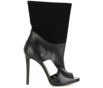 open toe cut out detail boots