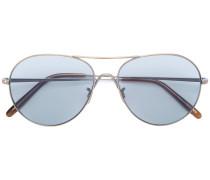 Pilotenbrille mit texturierten Bügeln