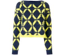 geometric-knit jumper