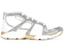 Sneakers mit strassbesetzten Einsätzen - women