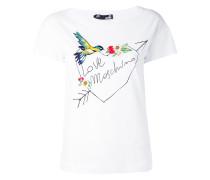 T-Shirt mit floraler Stickerei - women