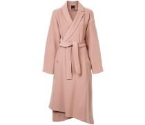 long sleeved belted coat