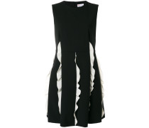contrast frill panel mini dress