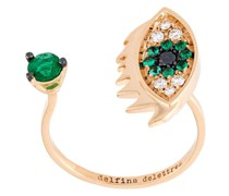 18kt 'Eyes on me piercing' Rotgoldring