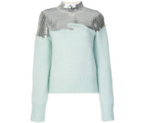 sequined turtle neck jumper