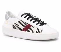 D.A.T.E. Sneakers mit Zebra-Print