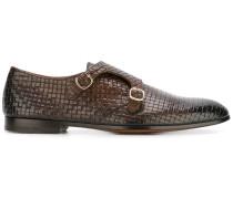Monk-Schuhe mit Webmuster
