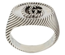'GG' Ring mit Streifen