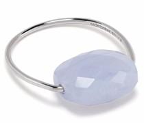 18kt Weißgoldring mit blauem Lace Achat