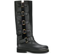 buckled mid-calf boots