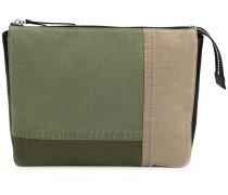 maxi canvas patchwork pouch