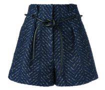 origami pleat cloqué shorts