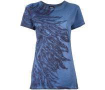 T-Shirt mit Feder-Print - women - Baumwolle - M