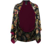 Jacke mit floraler Stickerei