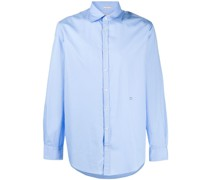 spread collar long-sleeve shirt