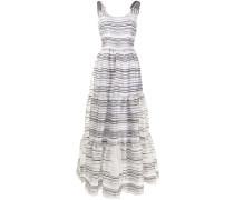Gestreiftes Kleid mit Einsatz