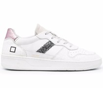 D.A.T.E. Sneakers mit Glitter-Streifen