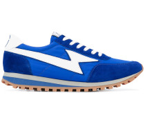 Sneakers mit Ledereinsätzen - men