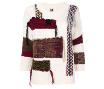 oversized patchwork effect jumper