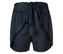 striped silk shorts