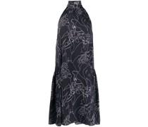 Ausgestelltes Kleid mit Stehkragen