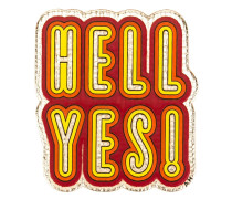 'Hell Yes!' Sticker - women - Ziegenleder