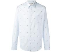 Hemd mit Bienenstickerei - men - Baumwolle - 42