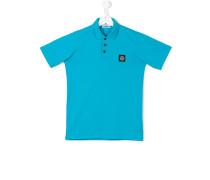 - Poloshirt mit Logo-Patch - kids - Baumwolle