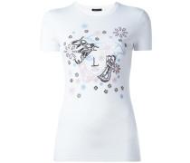 T-Shirt mit floralem Medusa-Logo