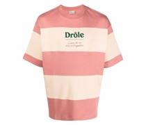 Gestreiftes T-Shirt mit Logo-Print