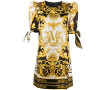 Kurzes Kleid mit Barock-Print