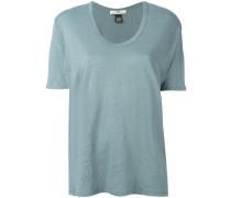 Leinen-T-Shirt mit U-Ausschnitt - women