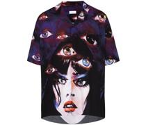 Bowlinghemd mit Augen-Print
