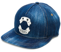 logo denim cap
