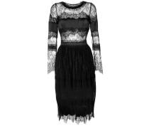 Semi-transparentes Kleid mit Spitzeneinsatz