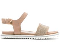 Sandalen mit Perlendetails
