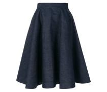 flared denim skirt