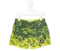 Badeshorts mit Logo-Patch - kids - Polyamid - 2
