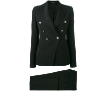 - button detail trouser suit - women