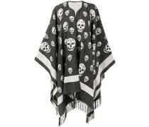 Schal mit Totenkopf-Stickerei