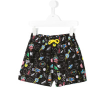- Space Robots swim shorts - kids - Polyester - 6