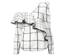 Karierte Bluse mit asymmetrischem Schnitt