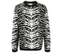 Pullover mit Animal-Intarsienmuster