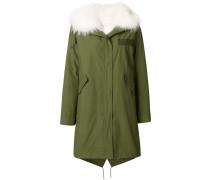 trimmed parka coat